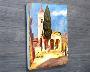 Renoir print, Church in Cagnes Canvas