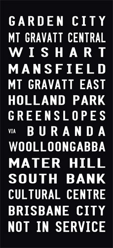 Garden City tram and Bus scroll