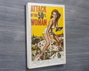 vintage movie poster on canvas