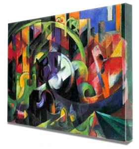 Franz_Marc_Abstract_with_cattle_Canvas print