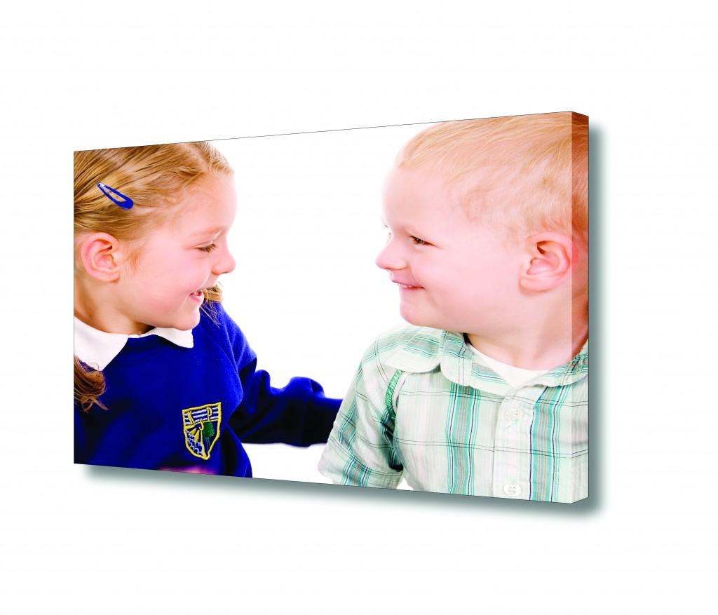 Kids photo on canvas