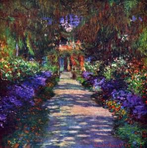 Monet - Garden at Giverny sm