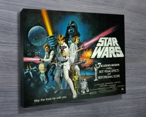 Star Wars movie poster, star wars characters