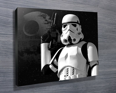 Storm Trooper pop art canvas