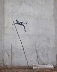 banksy street art canvas print
